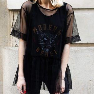 Zara Modern Rebel Layered Tank and Shirt